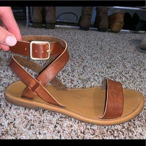Brown straps sandals